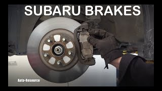 How to replace front brakes on Subaru Outback
