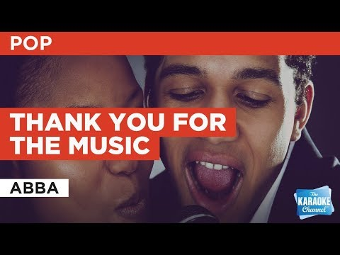 Thank You For The Music in the style of ABBA | Karaoke with Lyrics