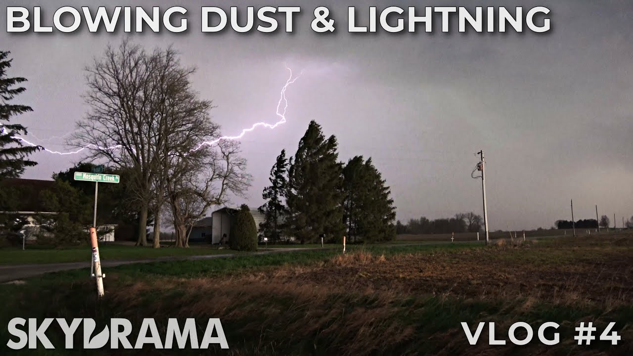 Blowing dust & lightning with high-based supercells in central Illinois | April 8th 2020 |