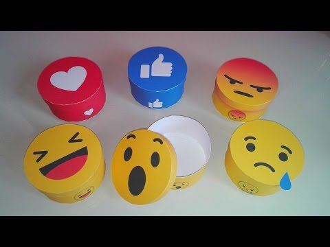 How to make a emoji reaction facebook box in paper : DIY box round - Easy and fast !