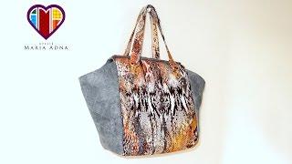 Bolsa sacola em tecidos Érika – Maria Adna Ateliê