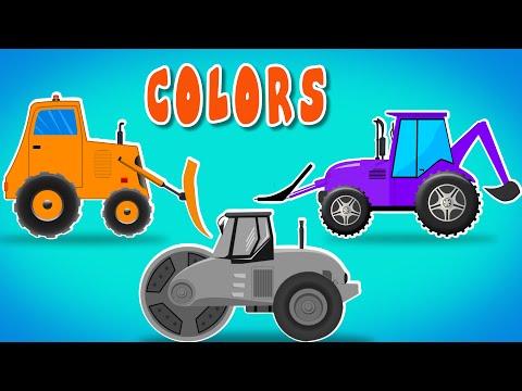 Construction vehicles | Learn Vehicles | Learn Colors | Colors Mix letöltés