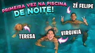 PRIMEIRA VEZ NA PISCINA DE NOITE!!
