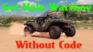 forza horizon 3 halo warthog best way to get without any codes