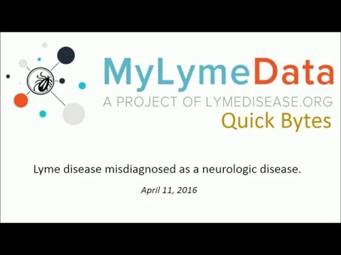 Misdiagnosis of Lyme disease as MS –MyLymeData Quick Bytes