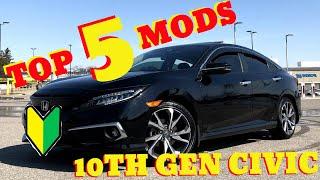 5 BEST MODS | 2019 Honda Civic Touring | 10th Gen Civic