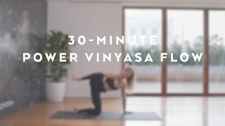 Video 30-Minute Power Vinyasa Flow with Caley Alyssa download MP3, 3GP, MP4, WEBM, AVI, FLV Maret 2018