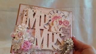 Shabby Chic Mr & Mrs Wedding Card and Matching Envelope for my Niece and her Hubby