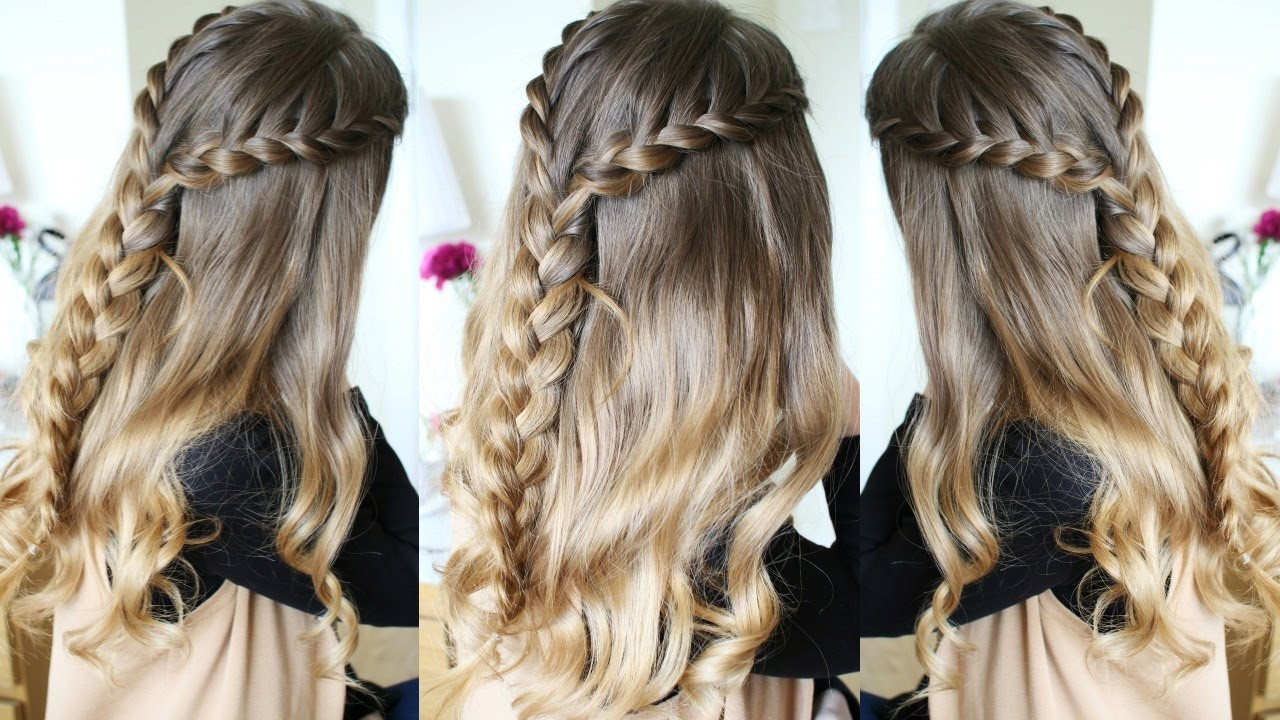 Half Up Half Down Hairstyles Lace Braid Braidsandstyles12 Youtube