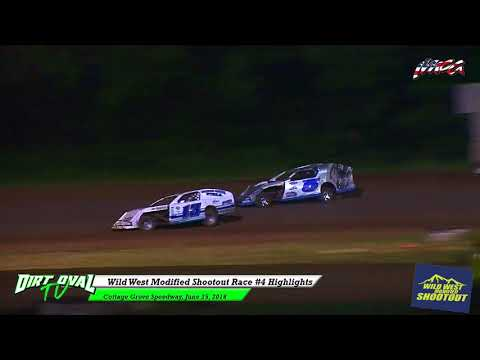 Wild West Modified Shootout Race #4 Highlights @ Cottage Grove Speedway