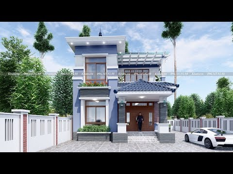 Mẫu Biệt Thự 2 Tầng Hiện Đại Đẹp Kiểu Nhật Tại Lương Tài Bắc Ninh