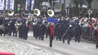19 14 43 Kapel van de Koninklijke Luchtmacht 10e Taptoe Streetparade Rotterdam 2015 vr 25 09 15 S1 0