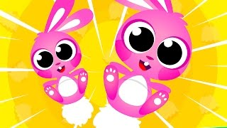 🔴 Learning & Counting 10 Little Bunny Tails! Where's My Tail? Little Angel: baby Rhymes & Songs