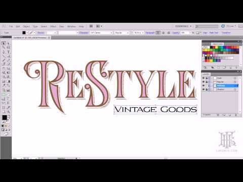 How to create easy logos using LHF Royal Crimson
