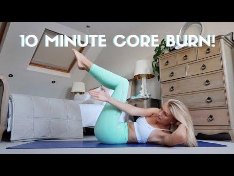 10 Minute Ab Workout // Intermediate Core Burn // No Equipment