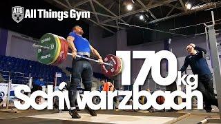 Tom Schwarzbach 170 Clean Pulls Almaty 2014 Worlds Training Hall