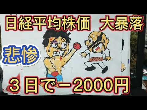 日経平均株価 大暴落!3日で-2000円! 個人投資家の心理状態は?
