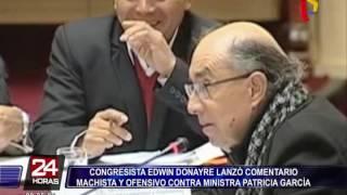 Edwin Donayre lanza comentario machista a ministra Patricia García