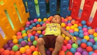 Indoor Playground Family Fun for Kids Slides Playroom With Balls | The Surprise For Kids