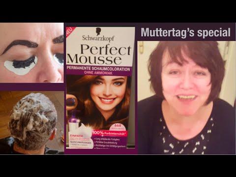 Styling zum Muttertag I Haare färben, Augenbrauen- & Wimpern färben ...