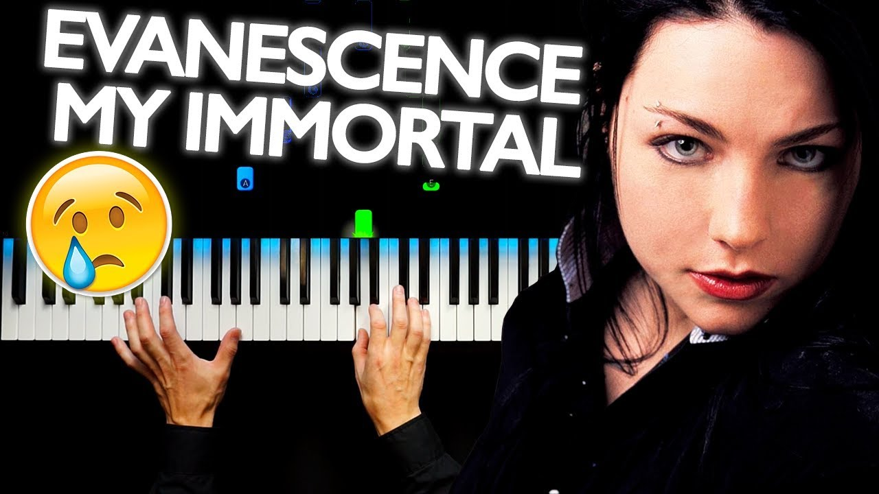 Evanescence my immortal easy piano tutorial by plutax youtube.