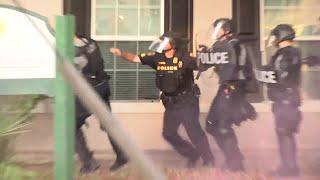 Tampa police shoot rubber bullets, pepper spray during protests