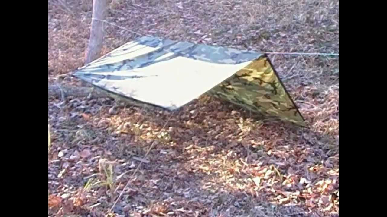 Military Poncho Shelter Survival Set Up Configurations Part One & Military Poncho Shelter Survival Set Up Configurations Part One ...