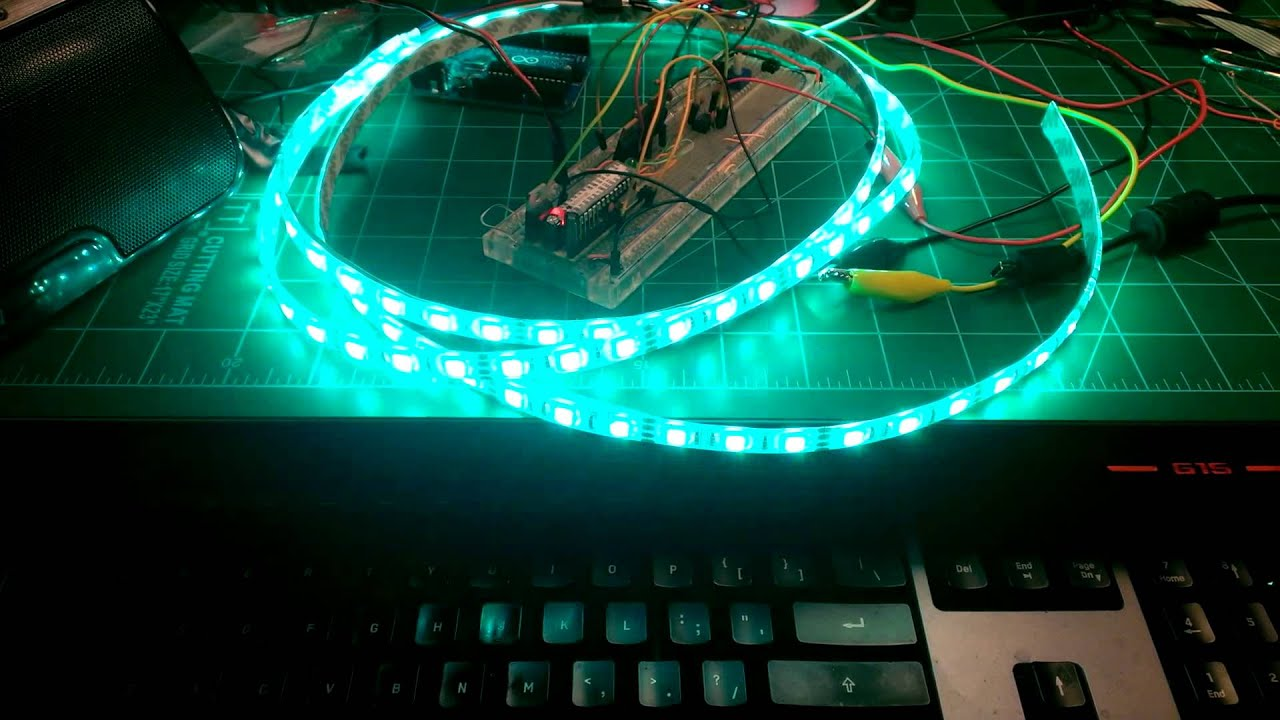 Arduino led strip audio visualizer youtube