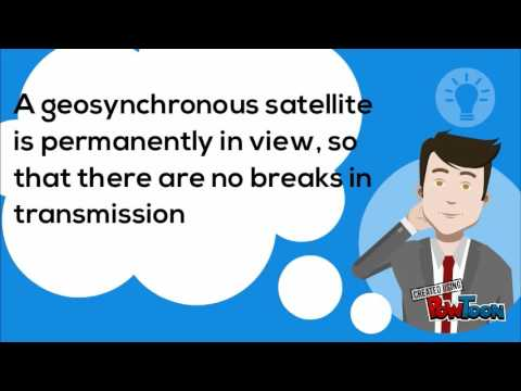 Advantages of geosynchronous satellite