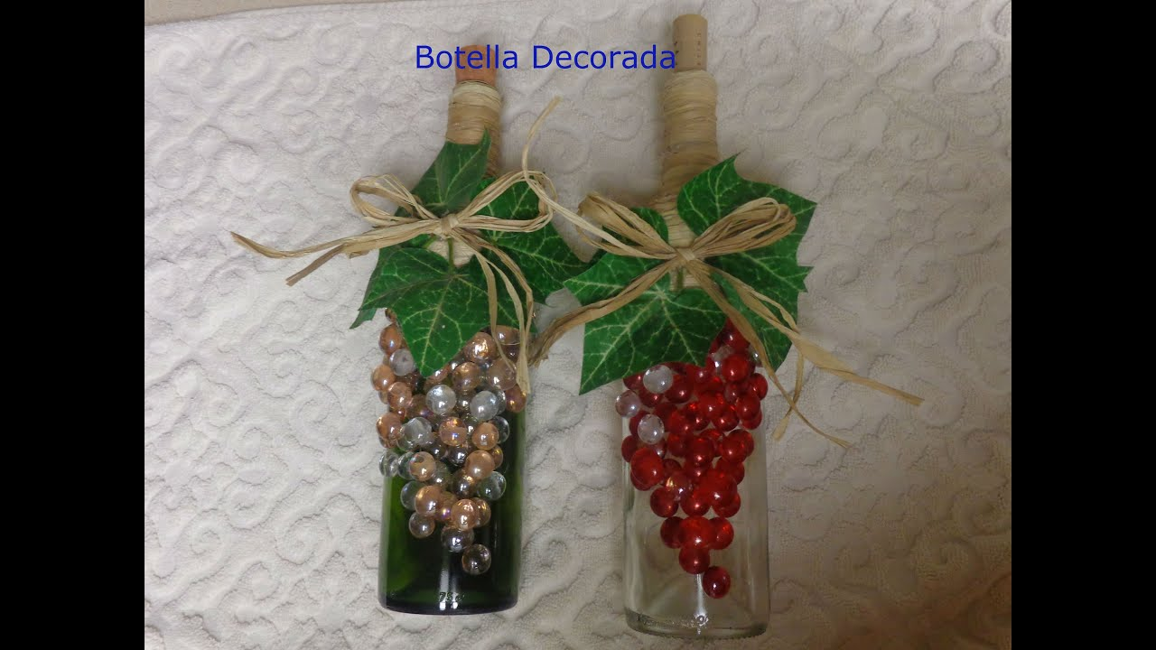 Diy manualidades de botella decorada youtube - Mesa de navidad decorada ...