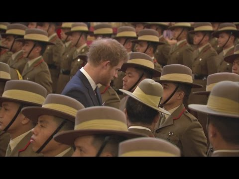 Charles and Harry honour Gurkhas at Buckingham Palace