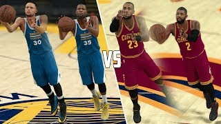 CLEVELAND CAVALIERS VS GOLDEN STATE WARRIORS HALF COURT CONTEST! NBA 2K17 GAMEPLAY!