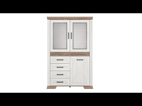 Шкаф REG2W1D4S цвета ясень снежный