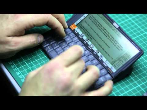 Typing on a Psion series 5 Palmtop computer, ASMR, no talking