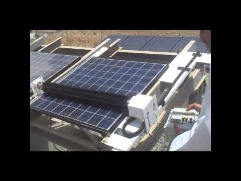 Automatic Dust Cleaning System For Pv Panels Youtube