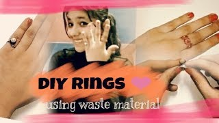 DIY- How to make rings at home using waste material | without using special jewellery making tools