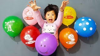 Learn Colors With Beads Balloons For Kids, Finger Family Balloons Nursery Rhymes, BaBiBum