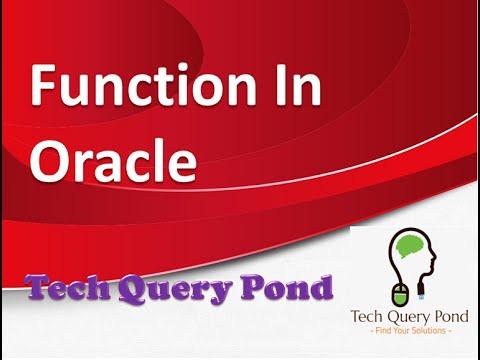 Function In Oracle PL SQL