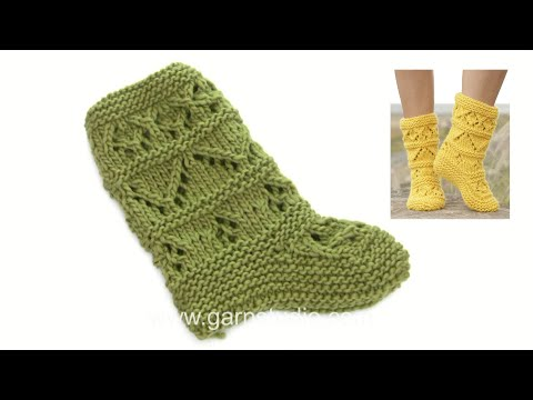 How to knit and assembly the slippers in DROPS 170-9