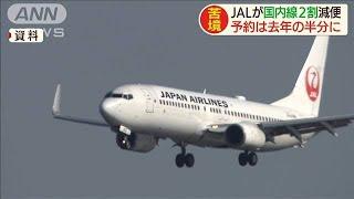 JALが国内線を来月2割減便へ 感染拡大で予約半減(20/03/25)