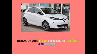 Renault Zoe how to change cabin air filter