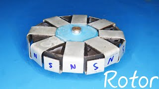 How to make a strong magnet rotor from speaker magnet