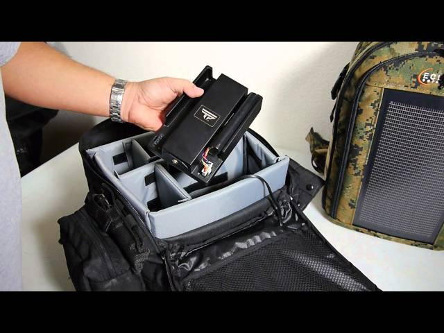 The Bugout Solar Backpack charges TrackingPoint scopes