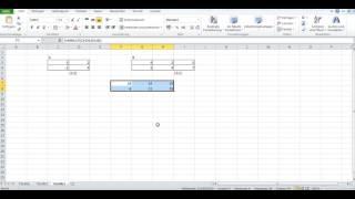 Matrizen mit Excel multiplizieren