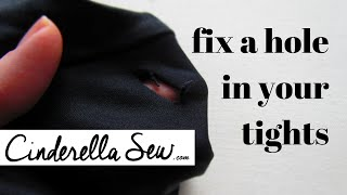 Fix a hole in your leggings - Repair a hole in tights - Sew a hole shut DIY