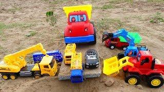 Cars for Kids| EXCAVATOR CRANE TRUCK RESCUE Cars Toys for Kids, dump truck