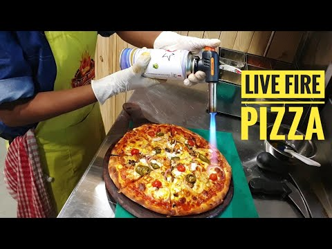 Customized Pizza making : Your Choice of Sauce, Cheese and Toppings     Red Flames Pizzeria, Surat