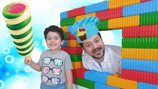 Johny Johny Yes Papa Nursery Rhymes Song by Yusuf, Learn Colors With Colored Brick