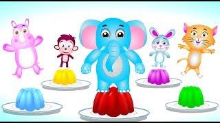 Animals jumping in the fridge | Animals finger family songs for kids | cartoon  for kids
