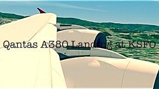 Aerofly 2 ||Qantas Airbus A380 Landing at San Francisco (KSFO) ||